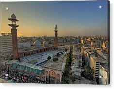 Memon Masjid, Karachi Acrylic Print by SM Rafiq Photography.