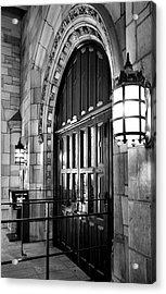 Memorial Hall Entrance Acrylic Print by Steven Ainsworth