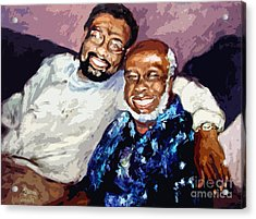 Memphis Soul Music William Bell And Rufus Thomas Acrylic Print by Ginette Callaway