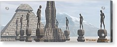 Men Of Stone Acrylic Print