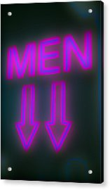 Men Acrylic Print by Richard Piper