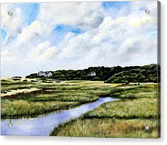 Menemsha Marsh Acrylic Print by Paul Gardner