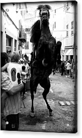 Acrylic Print featuring the photograph Menorca Horse 3 by Pedro Cardona