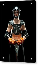 Acrylic Print featuring the photograph Mens Lacrosse Player by Jim Boardman