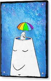Mental Health Protection, Artwork Acrylic Print by David Gifford