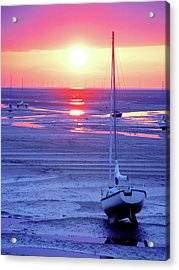Meols Beach On The Wirral Acrylic Print by Duncan Rowe