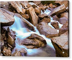 Merced Cascades Acrylic Print by Adam Pender