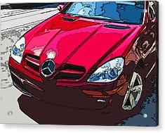 Mercedes Benz Slk Nose Study Acrylic Print