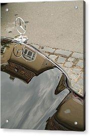 Mercedes Logo Acrylic Print by Odon Czintos