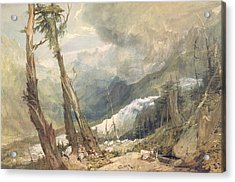 Mere De Glace - In The Valley Of Chamouni Acrylic Print by Joseph Mallord William Turner