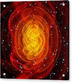 Merged Black Holes Acrylic Print by Chris Henzenasa