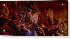 Acrylic Print featuring the painting Merlin At Hells Gate by Steve Roberts