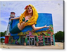 Mermaid Building Acrylic Print by Garry Gay