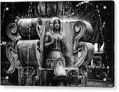 Mermaid Fountain Acrylic Print by Tom Bell