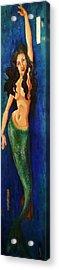 Mermaid Reach Acrylic Print by Abraham Gonzales