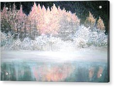 Acrylic Print featuring the painting Merry Christmas by Marie-Line Vasseur