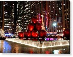 Merry New York City Christmas Acrylic Print