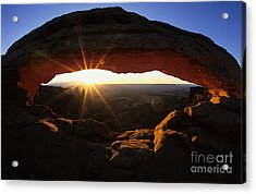 Mesa Arch Sunrise Acrylic Print by Bob Christopher