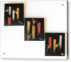 Message From The Future - Set Of 3 Acrylic Print by Marianna Mills