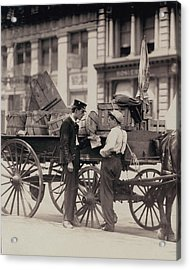 Messenger Boys On A Hurry Call In Union Acrylic Print by Everett