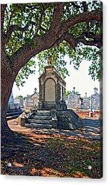 Metairie Cemetery Acrylic Print by Steve Harrington