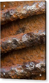 Acrylic Print featuring the photograph Metal Coil by Carrie Cranwill