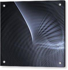 Metal Curves  Acrylic Print by Kim French