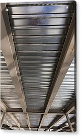 Metal Decking Over Structural Steel Acrylic Print by Don Mason