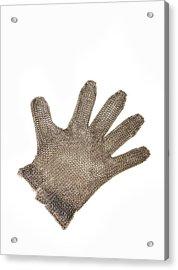 Metal Mesh Glove Acrylic Print by Cristina Pedrazzini