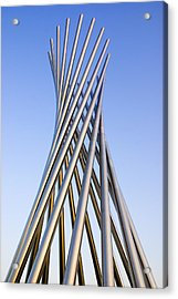 Metal Sculpture At Fermilab Acrylic Print by Mark Williamson