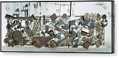 Metal Sculpture  Acrylic Print by Tommy  Urbans