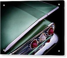 Metalic Green Impala Wing Vingage 1960 Acrylic Print by Douglas Pittman