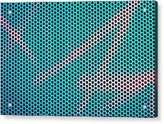 Metallic Background Acrylic Print by Tom Gowanlock