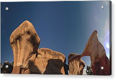Acrylic Print featuring the photograph Metate Arch And Hoodoos  by Gregory Scott