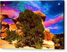 Acrylic Print featuring the photograph Metate Arch Dream by Gregory Scott