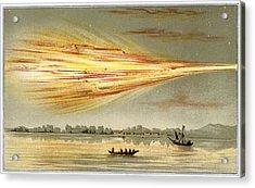Meteorite Explosion, Historical Artwork Acrylic Print by Detlev Van Ravenswaay
