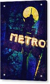 Metro Acrylic Print by Skip Nall