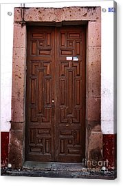 Mexican Door 45 Acrylic Print by Xueling Zou