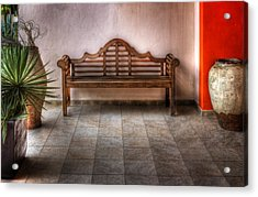 Acrylic Print featuring the photograph Mexican Patio by Yelena Rozov