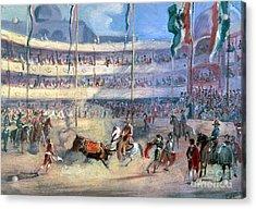 Mexico: Bullfight, 1833 Acrylic Print by Granger