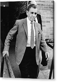Meyer Lansky Leaves Federal Court July Acrylic Print by Everett