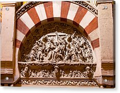 Mezquita Cathedral Religious Carving Acrylic Print by Artur Bogacki