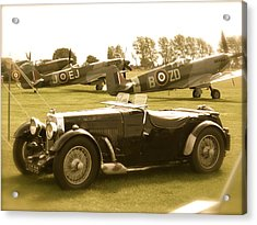 Acrylic Print featuring the photograph Mg And Spitfires by John Colley
