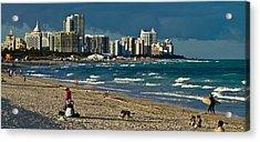 Miami Beach Afternoon Skyline  Acrylic Print