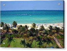 Miami Beach Acrylic Print by Pravine Chester