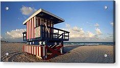 Miami Beach Watchtower Acrylic Print by Melanie Viola