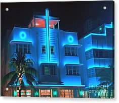 Miami Deco Lights Acrylic Print