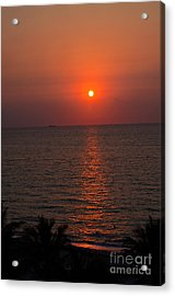 Acrylic Print featuring the photograph Miami Sunrise by Pravine Chester