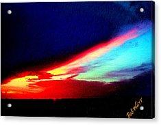 Acrylic Print featuring the photograph Miami Western Sky by Bob Whitt