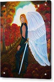 Michael - Michael Archangel Series By Yesi Casanova Acrylic Print